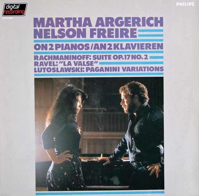 アルゲリッチ&フレイレのラヴェル/「ラ・ヴァルス」ほか 2台のピアノのための作品集 蘭PHILIPS 3129 LP レコード