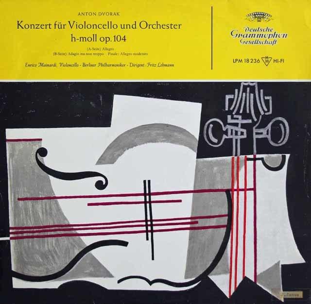 マイナルディのドヴォルザーク/チェロ協奏曲ロ短調 独DGG 3129 LP レコード
