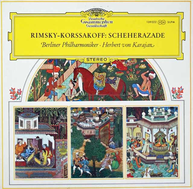 【オリジナル盤】カラヤンのリムスキー=コルサコフ/「シェヘラザード」 独DGG 3129 LP レコード