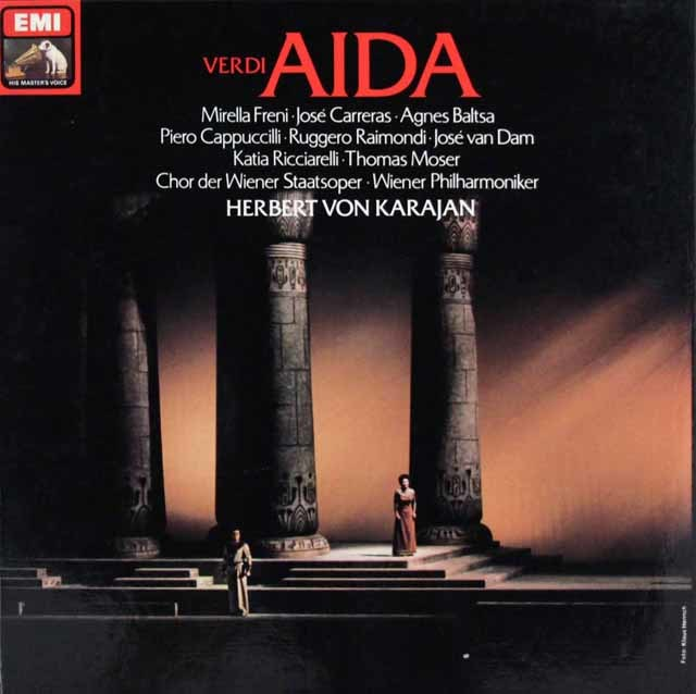 カラヤンのヴェルディ/「アイーダ」 独EMI 3129 LP レコード