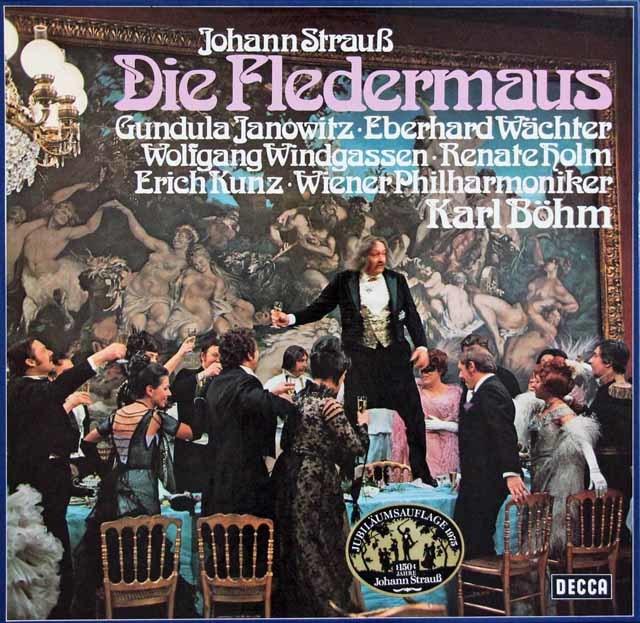 ベームのJ.シュトラウス2世/「こうもり」全曲 独DECCA 3129 LP レコード
