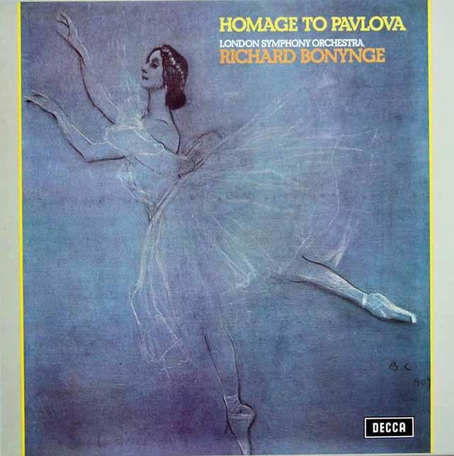 【オリジナル盤】 ボニングの「パブロワを讃えて」 英DECCA 3129 LP レコード