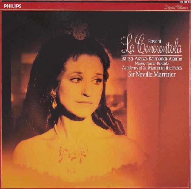 マリナーのロッシーニ/「チェネレントラ」(シンデレラ)全曲 蘭PHILIPS 3129 LP レコード