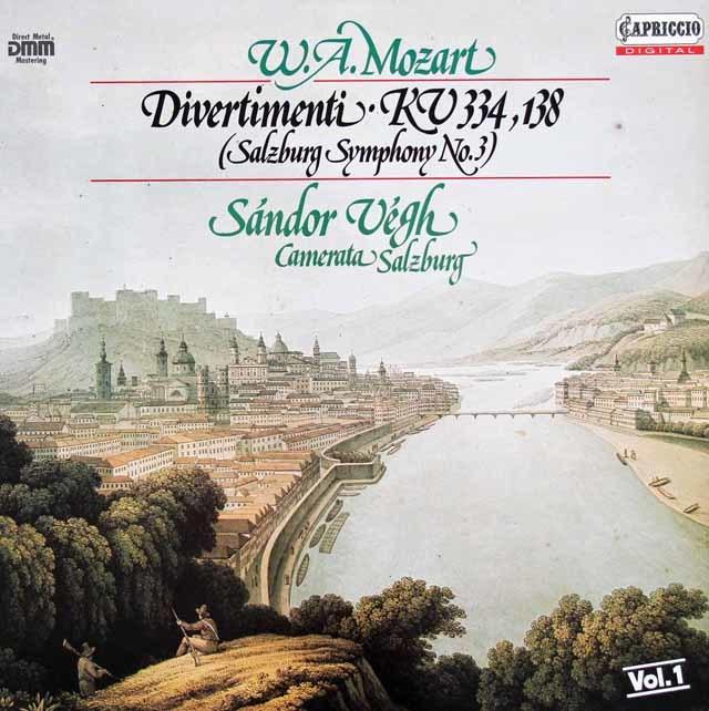 ヴェーグのモーツァルト/ディヴェルティメント第17番 独CAPRICCIO 3130 LP レコード
