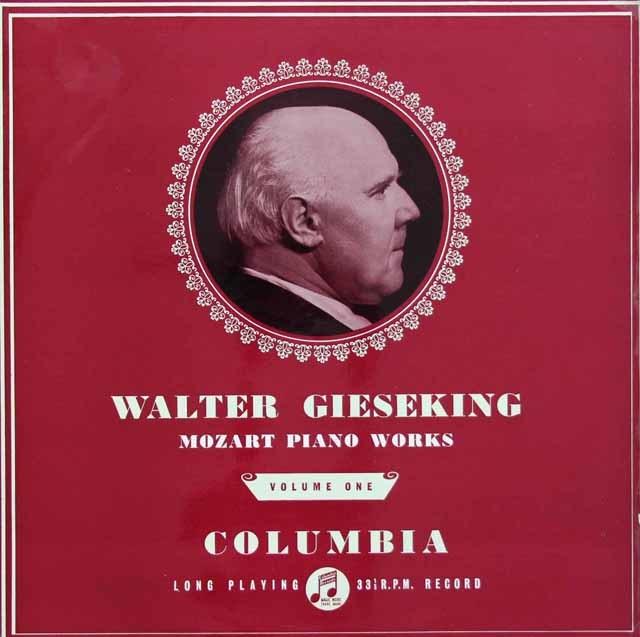 【オリジナル盤】 ギーゼキングのモーツァルト/ピアノソナタ第16番ほか(1) 英Columbia 3130 LP レコード