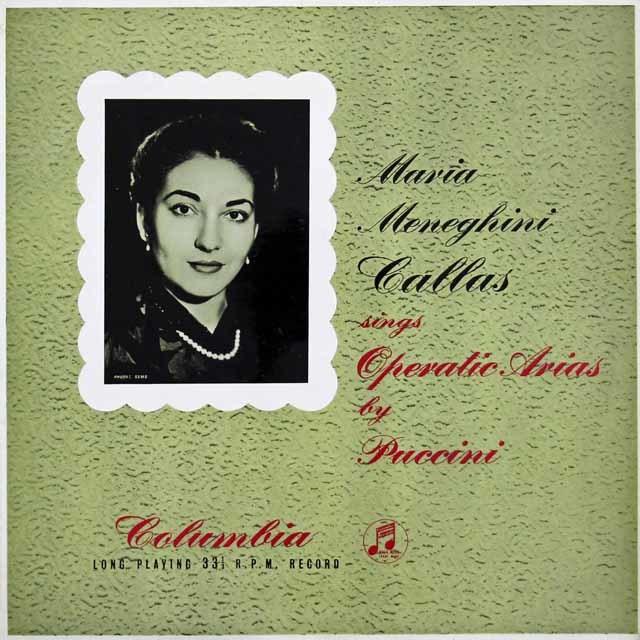 【オリジナル盤】カラスのプッチーニ/オペラ・アリア集  英columbia  3130 LP レコード