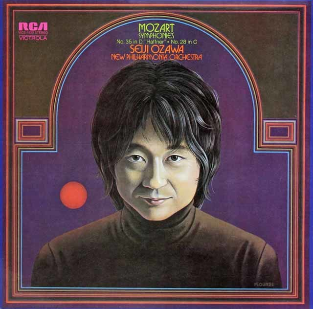 小澤のモーツァルト/交響曲第35番「ハフナー」、第28番 英RCA  3130 LP レコード