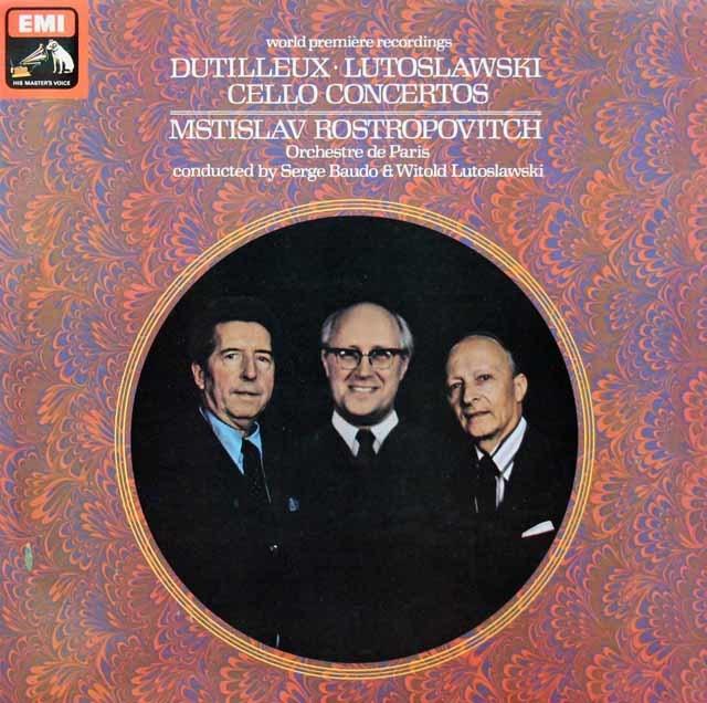 【オリジナル盤】ロストロポーヴィチのルトスワフスキ/チェロ協奏曲ほか 英EMI 3130 LP レコード