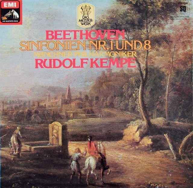 ケンペのベートーヴェン/交響曲第1 & 8番 独EMI 3130 LP レコード