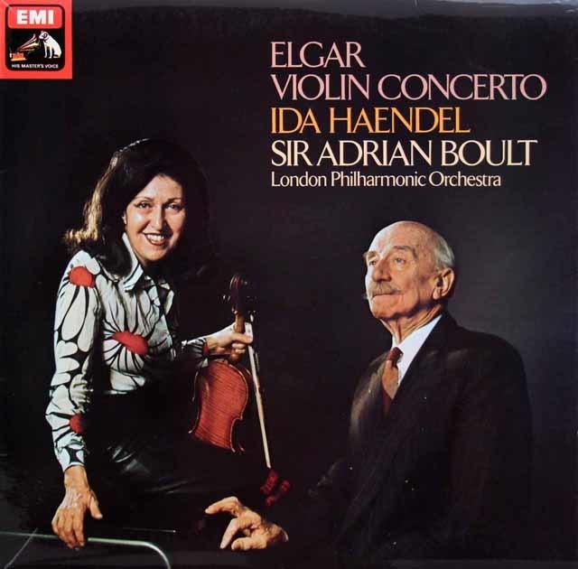 【オリジナル盤】イダ・ヘンデル&ボールトのエルガー/ヴァイオリン協奏曲   英EMI 3130 LP レコード