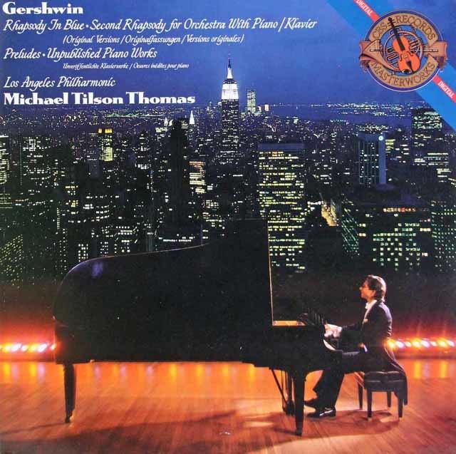 ティルソン・トーマスのガーシュウィン/「ラプソディ・イン・ブルー」ほか CBS 3130 LP レコード