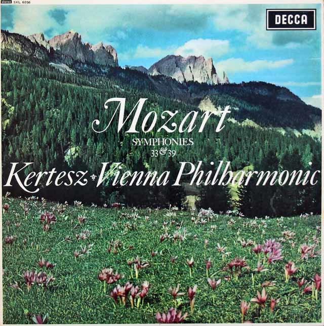 【オリジナル盤】ケルテスのモーツァルト/交響曲第33&39番  英DECCA 3130 LP レコード