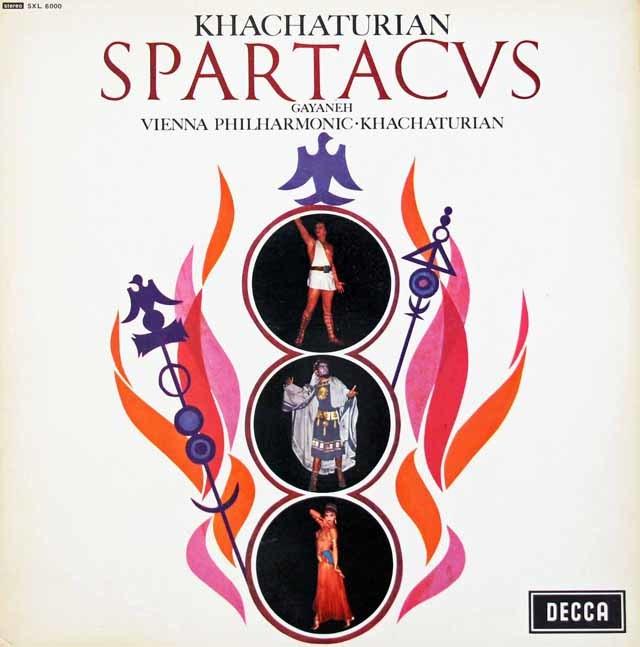 【オリジナル盤】ハチャトゥリアンの自作自演/「スパルタカス」&「ガイーヌ」 英DECCA 3130 LP レコード