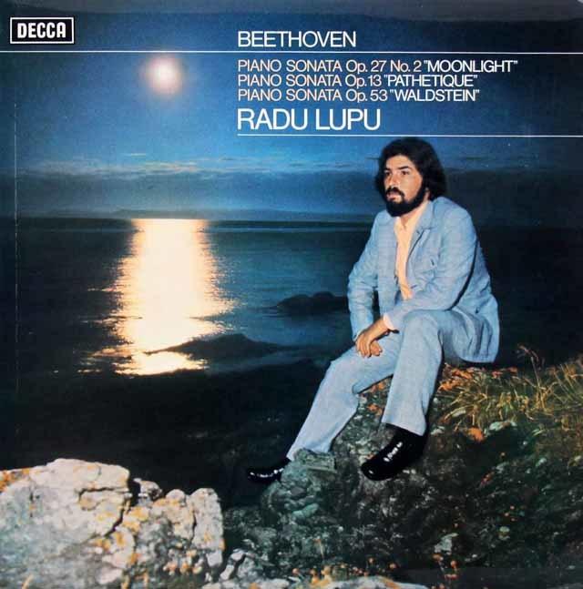 【オリジナル盤】ルプーのベートーヴェン/ピアノソナタ「月光」ほか 英DECCA 3130 LP レコード