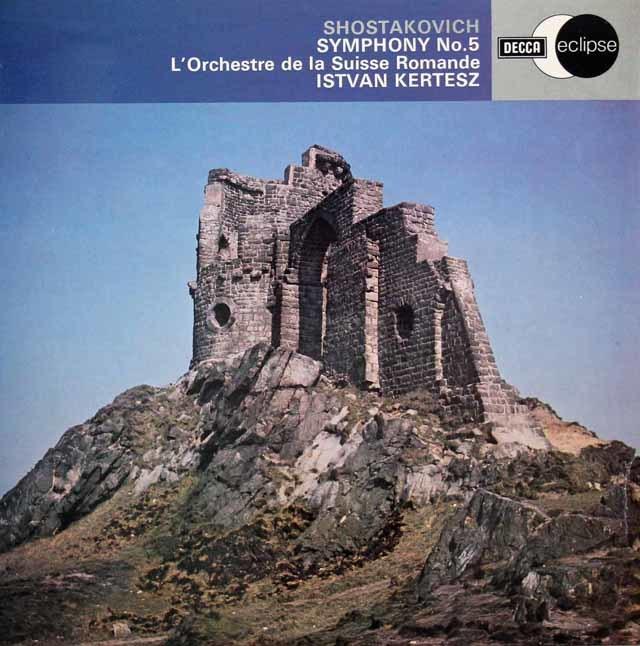 ケルテスのショスタコーヴィチ/交響曲第5番  英DECCA  3130 LP レコード