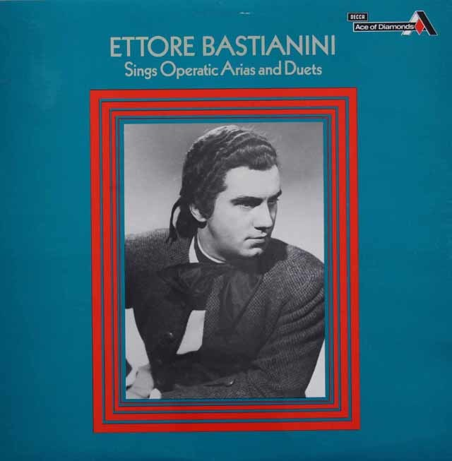 バスティアニーニのオペラ・アリア&二重唱曲集  英Ace of Diamonds(DECCA) 3130 LP レコード