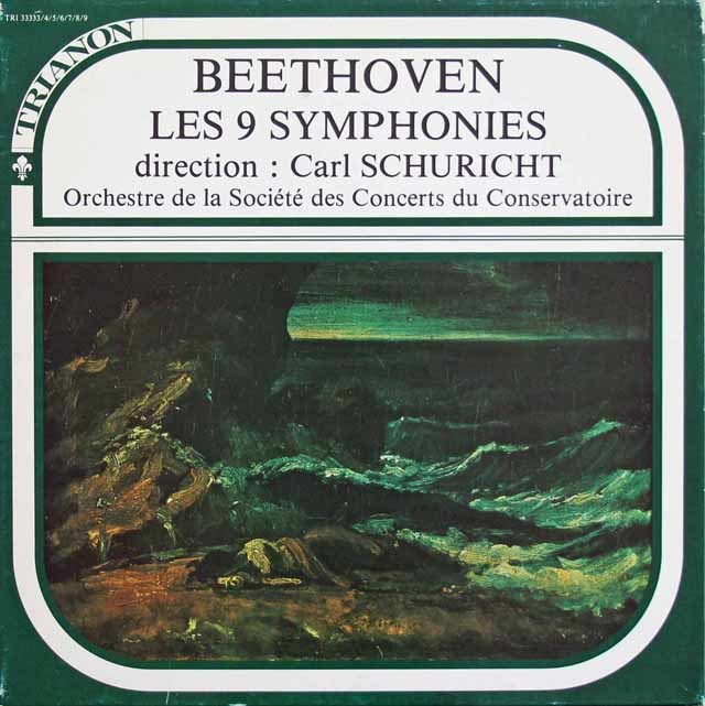 シューリヒトのベートーヴェン/交響曲全集 仏TRIANON 3130 LP レコード