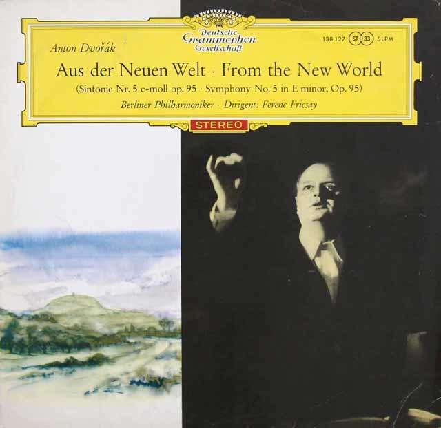 【赤ステレオ/オリジナル盤】フリッチャイのドヴォルザーク/交響曲第9番「新世界より」  独DGG 3130 LP レコード