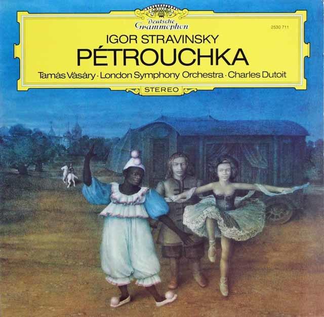 ヴァーシャリ&デュトワのストラヴィンスキー/バレエ「ペトルーシュカ」 独DGG 3130 LPレコード