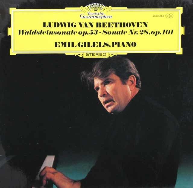 ギレリスのベートーヴェン/ピアノソナタ第21番「ワルトシュタイン」ほか 独DGG 3130 LP レコード