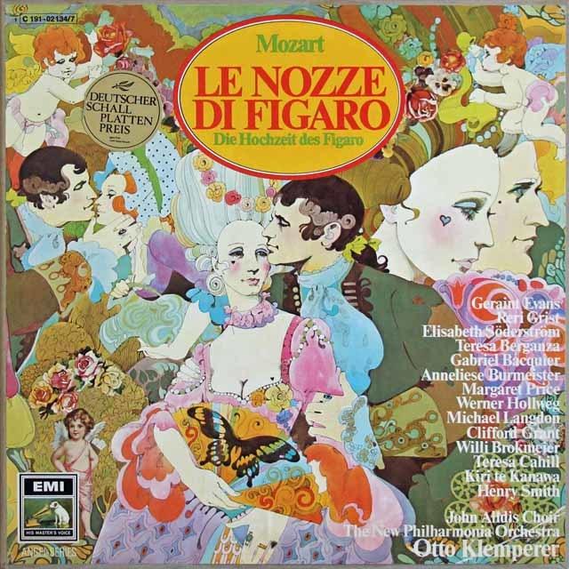 クレンペラーのモーツァルト/「フィガロの結婚」全曲 独EMI 3130 LP レコード
