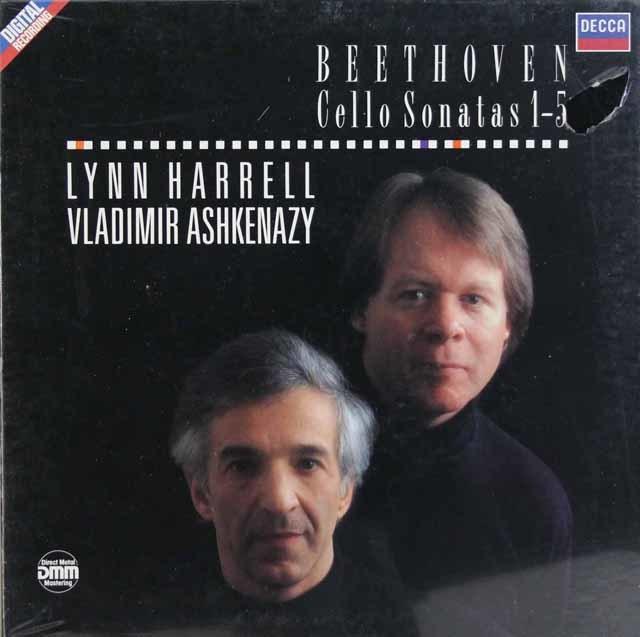 【未開封】ハレル&アシュケナージのベートーヴェン/チェロソナタ全曲 英DECCA 3130