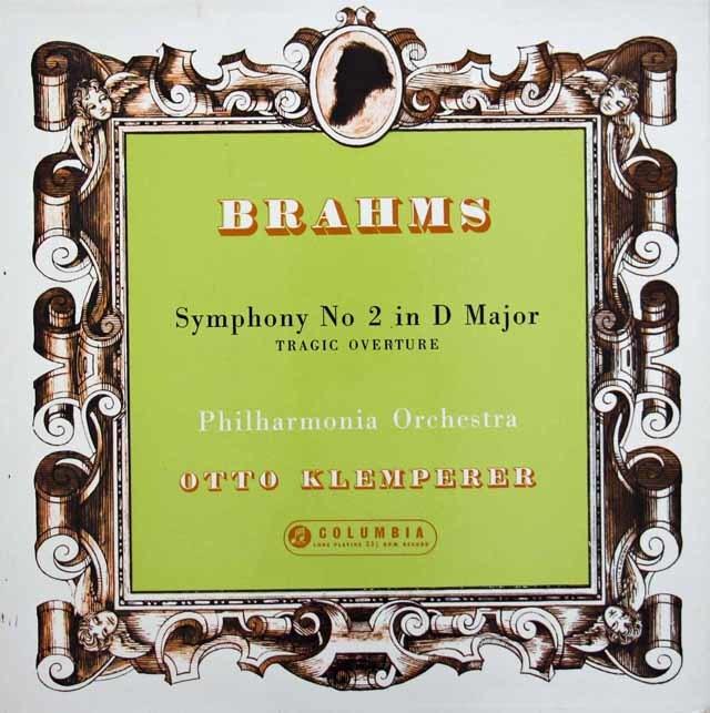 クレンペラーのブラームス/交響曲第2番 英COLUMBIA 3131 LP レコード
