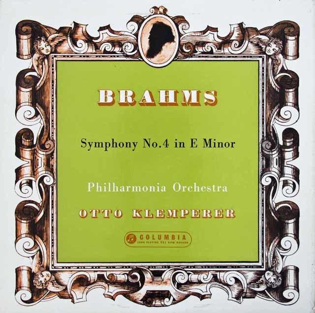 クレンペラーのブラームス/交響曲第4番 英COLUMBIA 3131 LP レコード