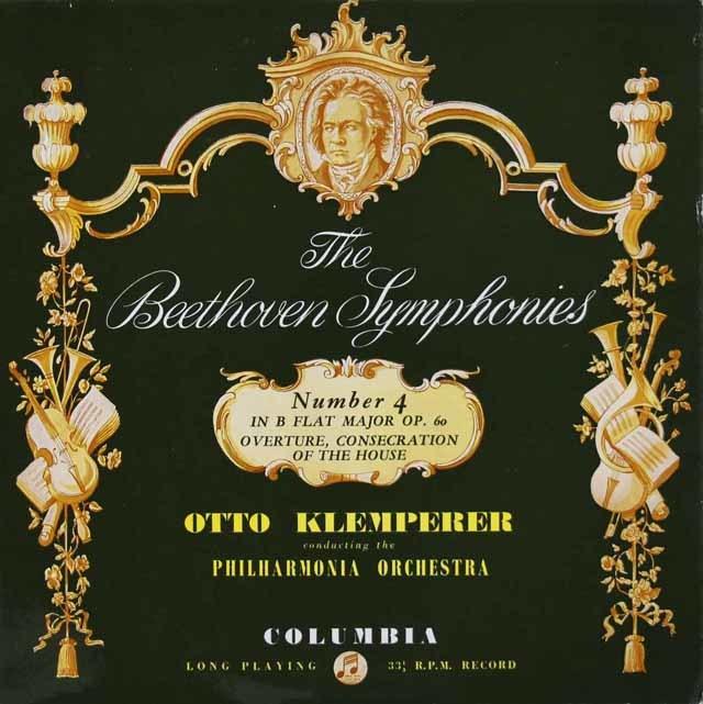 クレンペラーのベートーヴェン/交響曲第4番ほか 英Columbia 3131 LP レコード