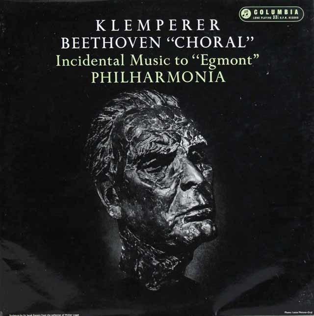 クレンペラーのベートーヴェン/交響曲第9番「合唱付き」ほか 英Columbia 3131 LP レコード