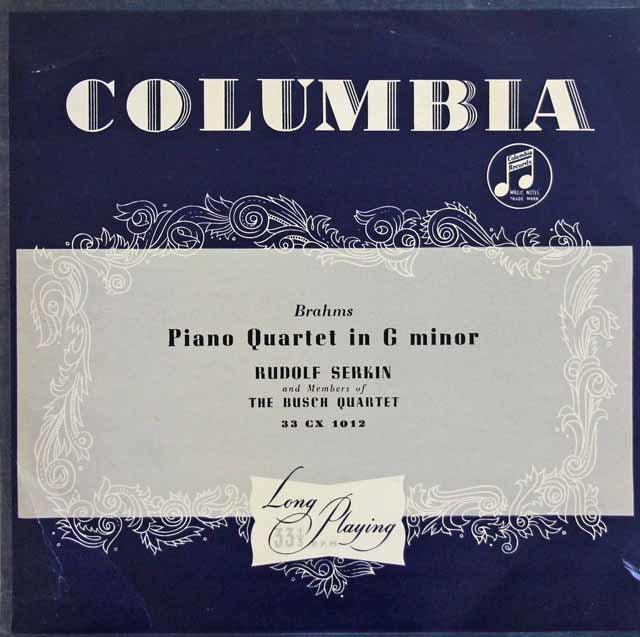 【オリジナル盤】ゼルキン&ブッシュ四重奏団のブラームス/ピアノ四重奏曲第1番 英Columbia 3131 LP レコード