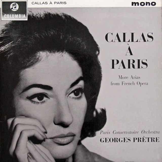 """""""パリのカラス"""" - フレンチオペラ・アリア集 英Columbia 3131 LP レコード"""