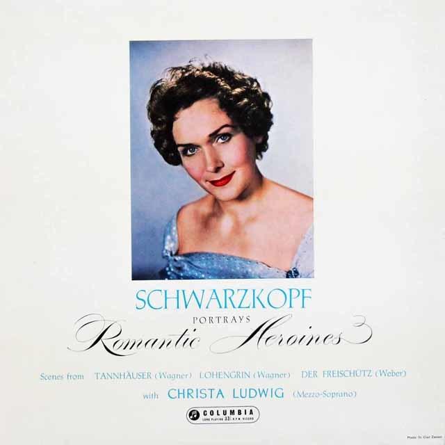 シュヴァルツコップのワーグナー&ウェーバー/オペラ・アリア集  英Columbia 3131 LP レコード