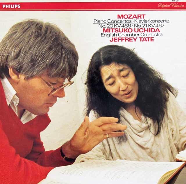 内田&テイトのモーツァルト/ピアノ協奏曲第20&21番  蘭PHILIPS 3131 LP レコード