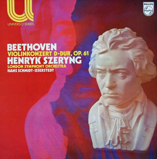 シェリング&イッセルシュテットのベートーヴェン/ヴァイオリン協奏曲 蘭PHILIPS 3131 LP レコード