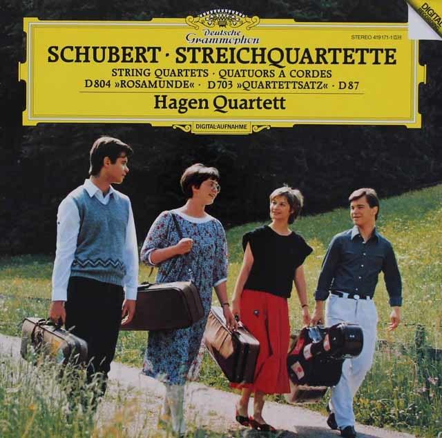 ハーゲン四重奏団のシューベルト/「ロザムンデ」ほか 独DGG 3131 LP レコード