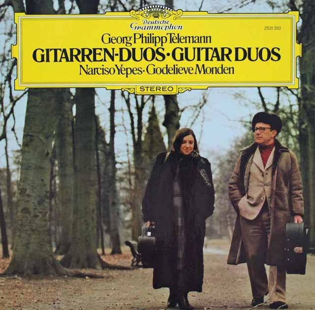 イエペス&モンダンのテレマン/ギター二重奏曲集 独DGG 3131 LP レコード