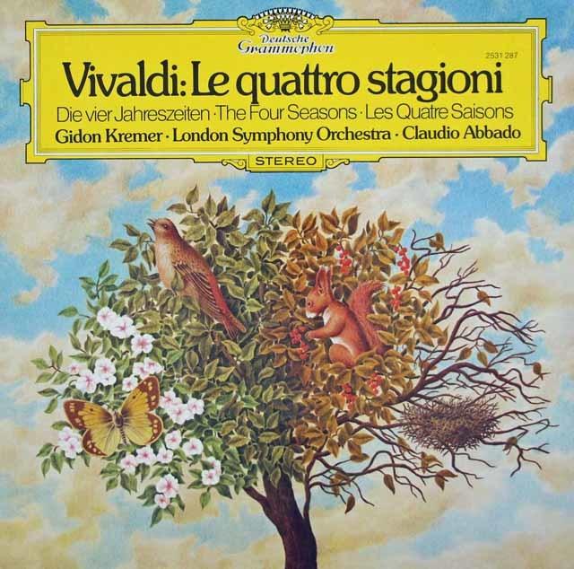 クレーメル&アバドのヴィヴァルディ/ヴァイオリン協奏曲集「四季」 独DGG 3131 LP レコード
