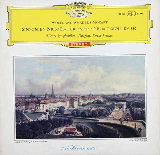 【赤ステレオ/オリジナル盤】フリッチャイのモーツァルト/交響曲第39&40番 独DGG 3131 LP レコード