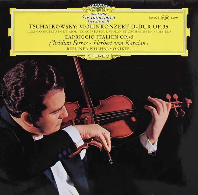 フェラス&カラヤンのチャイコフスキー/ヴァイオリン協奏曲&イタリア奇想曲 独DGG 3131 LP レコード