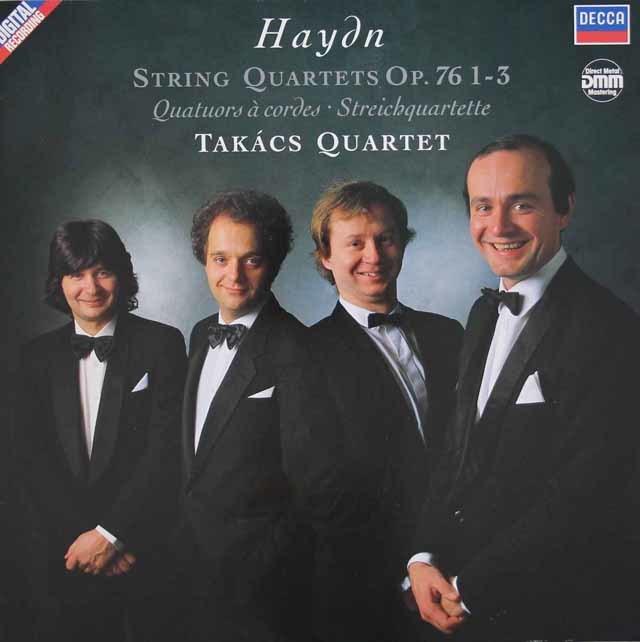 タカーチ四重奏団のハイドン/弦楽四重奏曲「皇帝」、「五度」ほか 独DECCA 3131 LP レコード