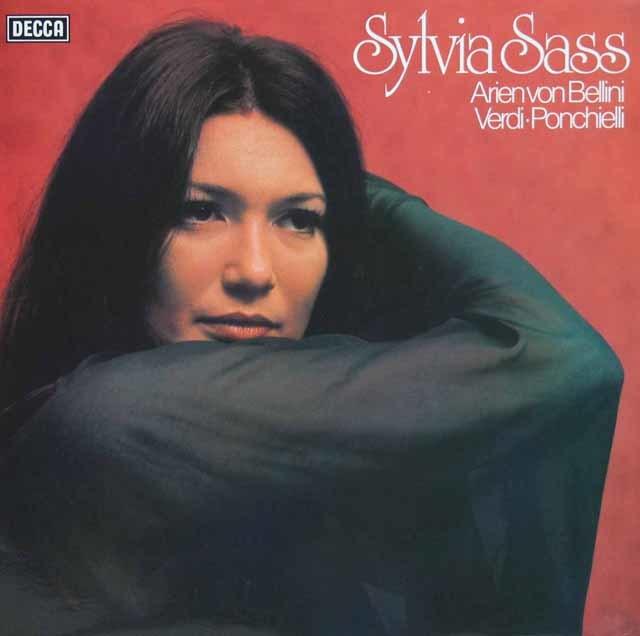シャシュのベルリーニ、ヴェルディ&ポンキエッリ/「オペラアリア集」 独DECCA 3131 LP レコード