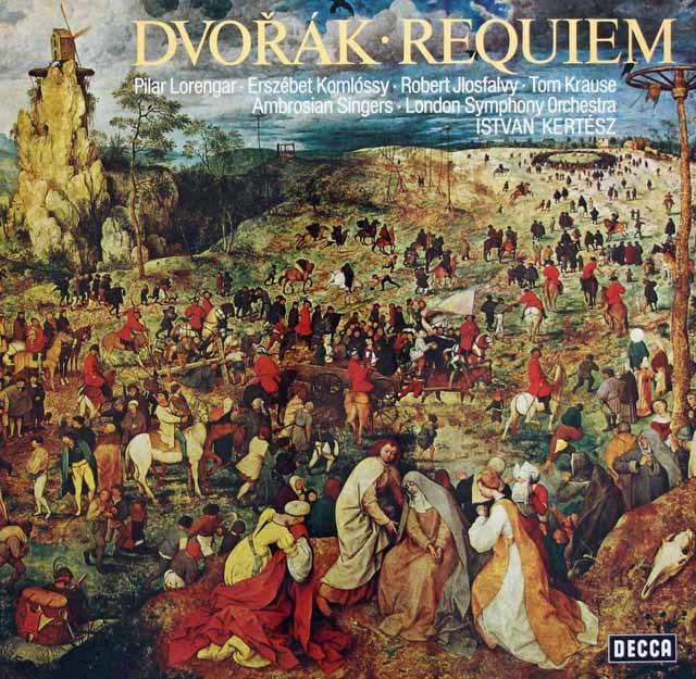 ケルテスのドヴォルザーク/レクイエム 独DECCA 3131 LP レコード