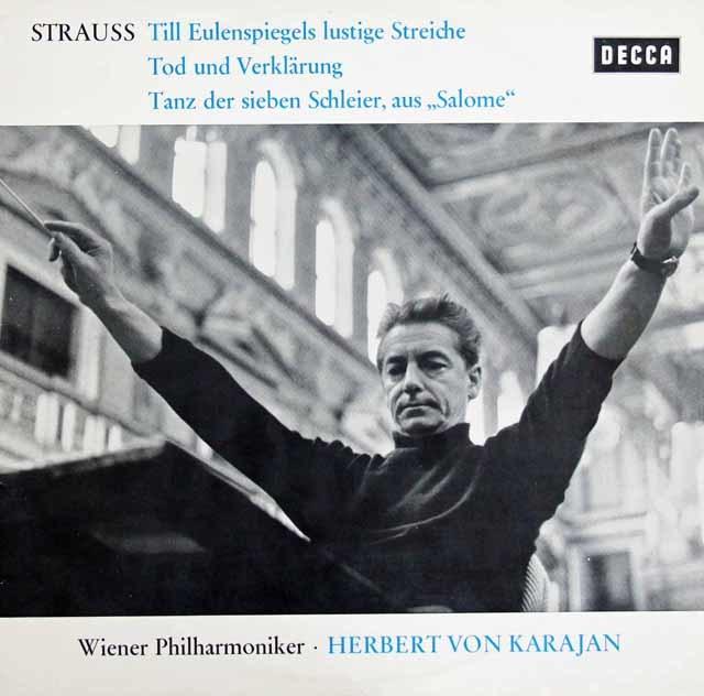 カラヤンのR.シュトラウス/「ティル」、「死と変容」&「サロメ」 独DECCA 3131 LP レコード