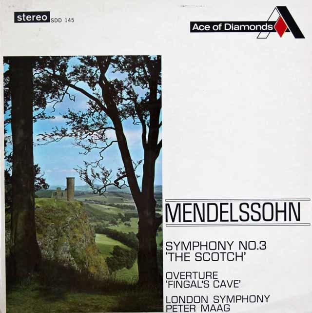 マークのメンデルスゾーン/交響曲第3番「スコットランド」ほか 英DECCA (Ace of Diamonds) 3131 LP レコード