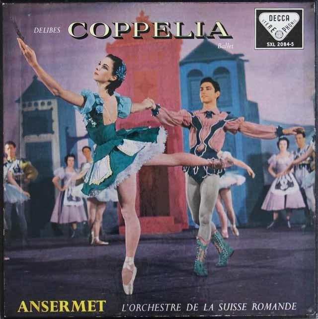 【オリジナル盤】アンセルメのドリーヴ/「コッペリア」(全曲) 英DECCA 3131