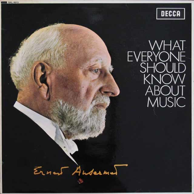 【オリジナル盤】アンセルメの「音楽について知るべきこと」 英DECCA 3131 LP レコード