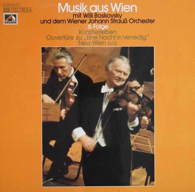 ボスコフスキーのウィーンの音楽 第6集 独EMI 3131 LP レコード