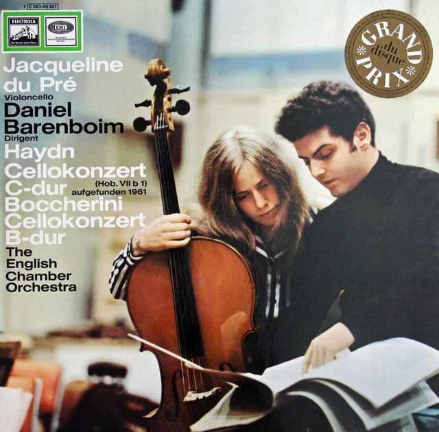 デュ・プレのハイドン&ボッケリーニ/チェロ協奏曲 独EMI 3131 LP レコード