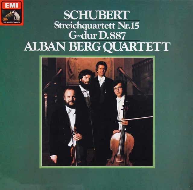 アルバン・ベルク弦楽四重奏団のシューベルト/弦楽四重奏曲第15番 独EMI 3131 LP レコード